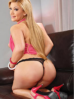 Hot horny blonde strips off her dress from DDF Prod
