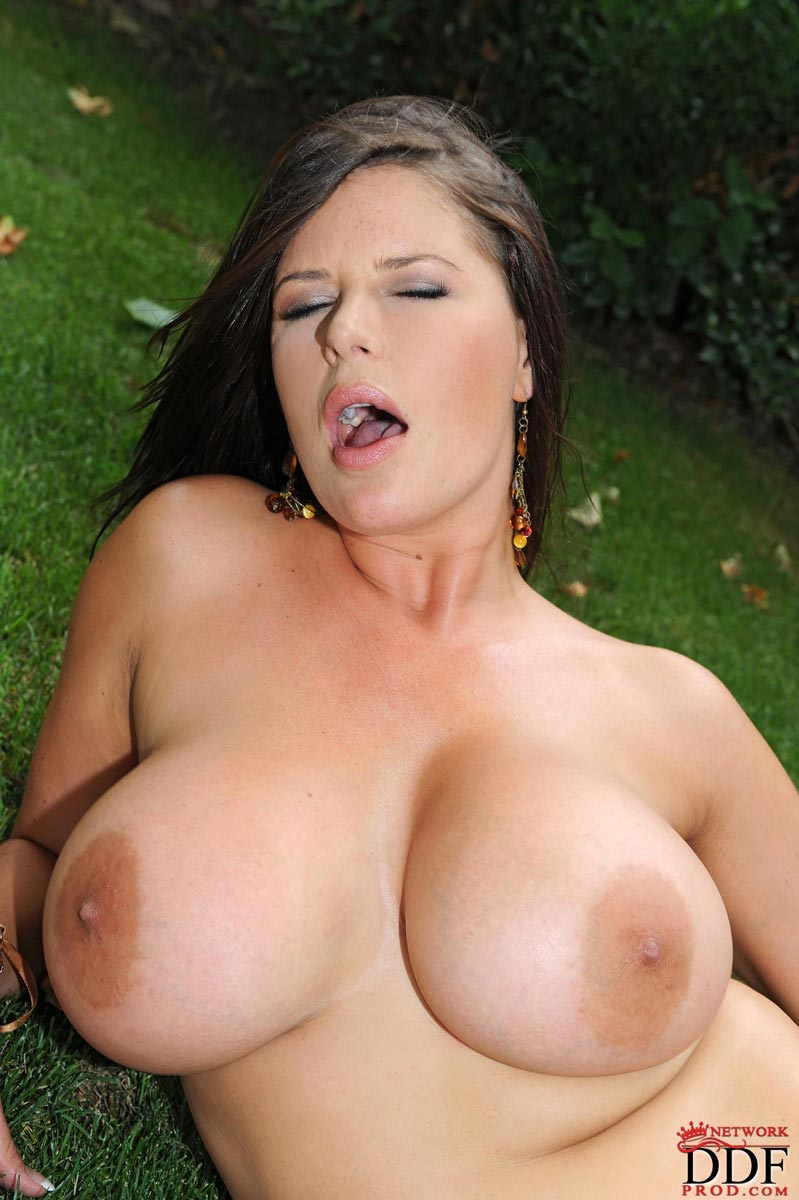 Hot busty pornstar shows monster natural tits outside from DDF Prod: galleries.pichunter.com/krawl/267/2674197/index.html