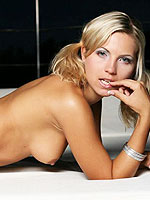 Hot horny blonde Jeni Gregg stripping and teasing from Stunners